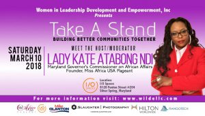 "She Is A Woman of Many Hats: To Name A Few, Healthcare Administrator, Community Advocate And Governor's Commissioner On African Affairs; Lady Kate Atabong Ndi Is The Host Of The ""Take A Stand"" Brunch"
